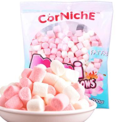 ?#22369;杀?#36827;口 可尼斯 CorNiche迷你棉花糖200g 儿童糖果 网红零食品 牛轧糖烘培原料