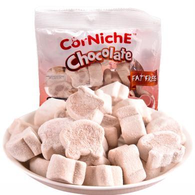 ?#22369;杀?#36827;口 可尼斯(CorNiche)儿童糖果 零食品 软糖巧克力泰迪棉花糖70g*2