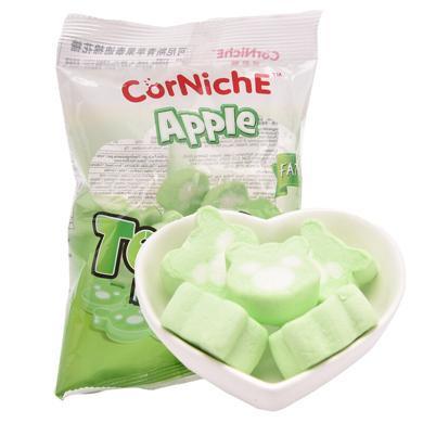 ?#22369;杀?#36827;口 可尼斯(CorNiche)儿童零食品 青苹果泰迪棉花糖果70g*2