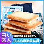 日本进口零食小吃北海道白色恋人巧克力夹心曲奇饼干12枚新春礼盒