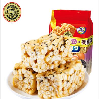 徐福記八莊沙琪瑪160gx2袋早餐糕點心小吃雞蛋味芝麻味休閑零食品 軟蛋黃味160g *2袋