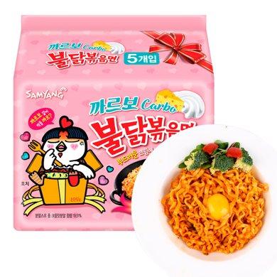 韓國進口三養火雞面超辣奶油味火雞面新款干脆面130g*5