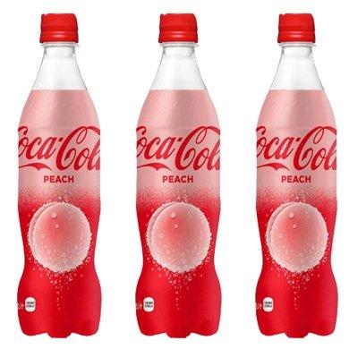 日本进口可口可乐粉色水蜜桃味 白桃味 桃子味可乐碳酸饮料限量版