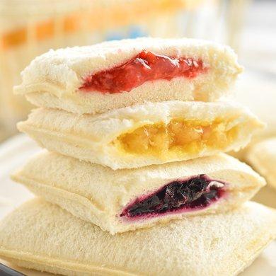 孝賢公主口袋面包菠蘿草莓藍莓芒果手撕三明治夾心蒸蛋糕早餐