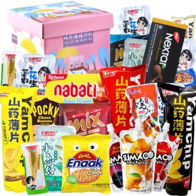 豬飼料零食大禮包組合一箱整箱超大混裝抖音網紅生日禮物