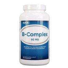 【缓解疲劳】美国GNC健安喜复合维生素b族天然维他命B群50mg 250粒