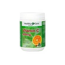 【海外直邮】澳洲Healthy Care Vitamin维生素C维他命c咀嚼片500片*1瓶装