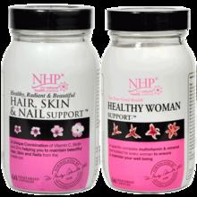 英国NHP胶原蛋白维生素美容美发+女性综合保养套装(60粒+60粒)