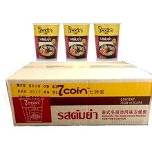 7coin 七咔呢 泰式冬阴功风味方便面 70g 杯面装 泰国原装进口12盒/箱