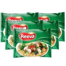 越南进口阮婆婆Reeva素食方便面素食泡面即食65克*5袋/包*6/箱进口素食方便面30袋/箱