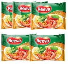 越南进口阮婆婆Reeva酸辣虾味方便面即食65克*5袋/包*6/箱进口方便面30袋/箱