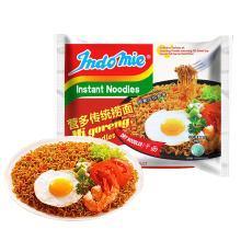 【滿199減100】印尼進口indomie營多撈面129g*1袋 速食袋裝網紅方便面炸醬面