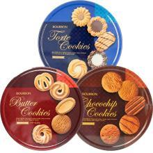日本进口波路梦Bourbon什锦巧克力味曲奇饼干318g进口曲奇休闲零食