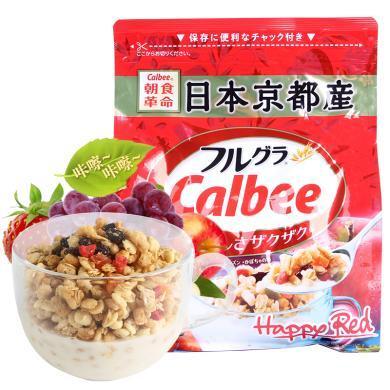 卡?#30452;菴albee 水果麦片500g*1袋装 日本进口谷物早餐麦片即食麦片燕麦片