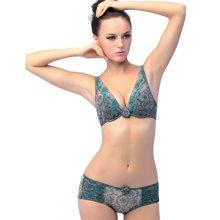 尼特名 文胸套装 深V型性感时尚聚拢文胸+舒适内裤L096626A-1/L