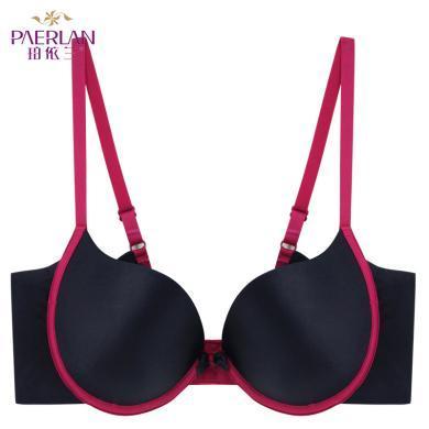 珀依蘭小胸聚攏厚夏季文胸新品 撞色性感內衣女胸罩  Y18198