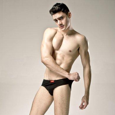 【3條裝】浪莎猛男內褲男士木纖維中腰性感三角內褲薄透氣速干三角褲短褲B1037