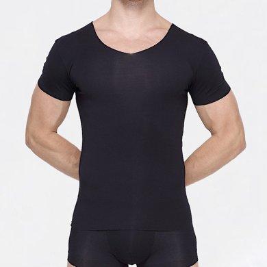 6128敦之盾【舒絲無痕】50S超細旦莫代爾男士T恤任意裁 修身型打底衫