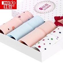 【四条装】Hodo/红豆 红豆女士内裤性感可爱少女中腰全棉三角裤头4条礼盒装HD9002-10
