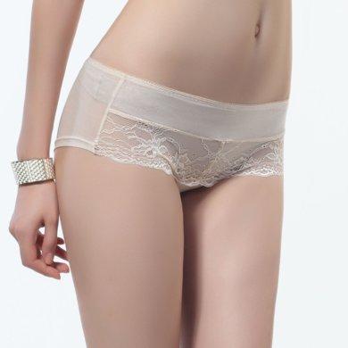 尼特名 女士中腰舒适蕾丝平角内裤L252L