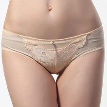 尼特名 女士内衣蕾丝舒适透气中腰三角内裤L238B