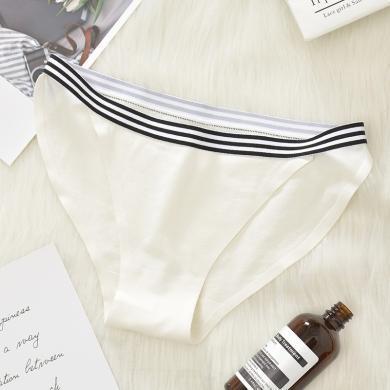 修允菲新款低腰性感腰頭橫條純棉女士丁字褲純色內褲三角褲SCN-31902