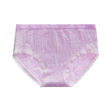 修允菲蜂巢暖宮彩棉內褲女淺色無痕蕾絲邊純棉襠女士內褲R310