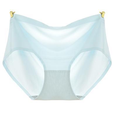 修允菲冰絲網眼透氣一片式薄性感女士內褲棉質襠女三角中腰夏R-308