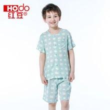 红豆童装男童睡衣套装童夏季卡通短袖中大童装儿童家居服 HD6J107
