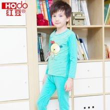 红豆男童保暖内衣套装纯棉儿童秋衣秋裤套装红豆中大童居家宝宝保暖衣HD5009