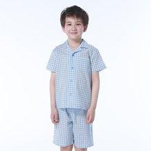 红豆儿童睡衣春夏男童女童中大童短袖童装睡衣家居服套装  HD6J109A