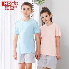 红豆儿童棉质T恤男女童中大童夏季短袖小学生新款春夏宝宝打底衫  HD71007
