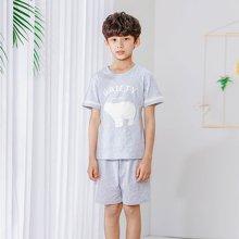 红豆儿童家居服夏季套装男童中大童小学生T恤短袖小男孩睡衣  HDT1721