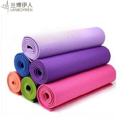 蘭博伊人6MM瑜伽墊正品防滑加厚加寬環保PVC愈加墊子健身墊子P0016 送網袋