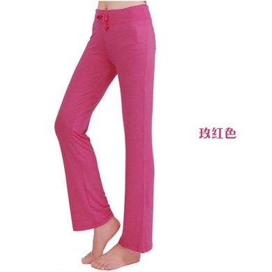 兰博伊人新款韩版瑜伽长裤女竹纤维显瘦修身练功裤广场舞裤健身裤B058