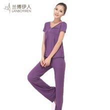 兰博伊人瑜伽服春夏新款套装韩版显瘦瑜珈服健身服舞蹈服大码L058+B013