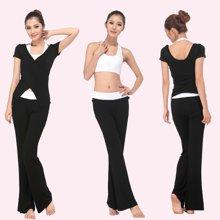 兰博伊人春夏新款瑜伽服套装女户外瑜珈三件套健身舞蹈服L056+L057+B012