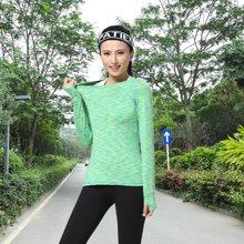兰博伊人韩版休闲户外健身服 春夏跑步运动速干长袖三件套瑜伽服套装上衣+裤子+背心L5001+B6003