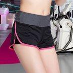 兰博运动短裤女夏速干跑步瑜伽健身户外假两件防走光显瘦运动裤B2233