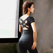 兰博伊人锦纶瑜伽服女夏季健身房专业背心送胸垫运动跑步上衣速干显瘦JL012