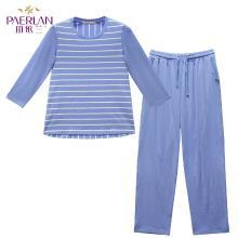 珀依兰可外穿夏天睡衣女士家居服新品 韩版休闲两件套装圆领短袖