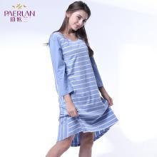 珀依兰可外穿夏季睡衣连体裙女士家居服新品韩版休闲装圆领七分袖