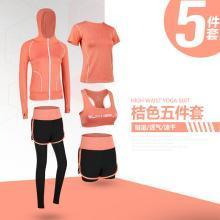 蘭博伊人瑜伽運動套裝女夏2019春新款健身房跑步速干衣專業健身服女五件套FYT