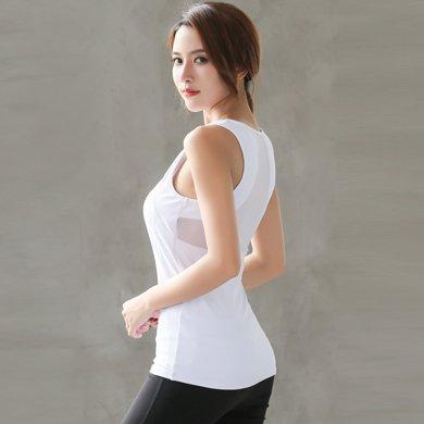 蘭博伊人專業運動跑步服緊身健身服速干背心上衣顯瘦網紗美背瑜伽服女JL066