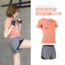 兰博伊人新款运动套装女夏健身房跑步晨跑速干专业健身服瑜伽服FYT