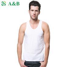 【2件裝】A&B男士背心純棉絲光運動無袖背心羅紋百搭打底汗衫(6041)