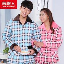 【情侶裝】南極人情侶休閑家居服套裝男女士冬季新品加厚保暖夾棉睡衣套裝NAS5X21022-102
