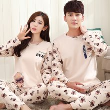 【预售】极有家 睡衣可爱卡通男女士可外穿韩版套装情侣装长袖家居服.169018
