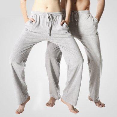 7505-8505棉質睡褲男女夏季薄款長褲寬松瑜伽褲休閑運動褲可外穿情侶家居褲
