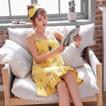 库依娜内衣 夏季新款吊带睡裙女士甜美中长款睡裙莫代尔吊带韩版睡裙 KYN013